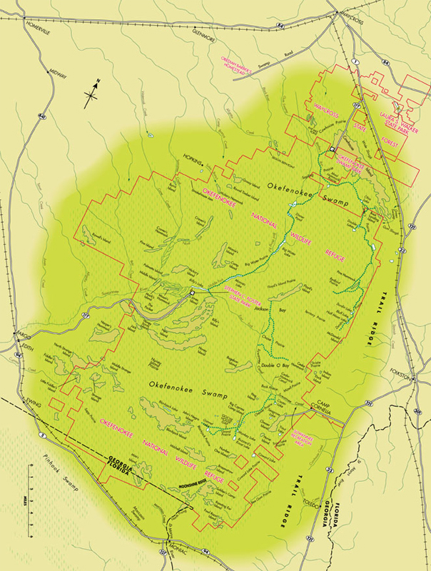 Okefenokee Fire Map.Nsv Creative Services Okefenokee Swamp Map